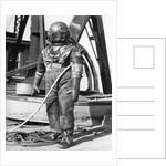 1930s 1940s Full Figure Of Man In Underwater Diving Suit by Corbis