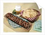 1960s Mug Beer Baskets Chips Pretzels by Corbis