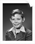1940s 1950s Boy Portrait Plaid Shirt Wool Jacket School Picture by Corbis
