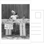 1930s 1940s Boy At Lemonade Stand Shouting Into Megaphone by Corbis