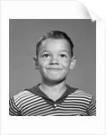 1960s Happy Boy Stripe Shirt by Corbis
