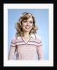 1970s Portrait Curly Woman Wearing Pink Stripe Sweater by Corbis