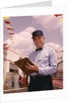 1950s 1960s Mechanic Holding Check List On Clipboard by Corbis