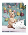 1960s New Year Baby Turning Calendar Page by Corbis