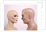 Couple Man Woman Male Female Bald Mannequin Dummy Model by Corbis