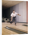 1960s Man Bowling Indoor About To Release Ball In Alley by Corbis