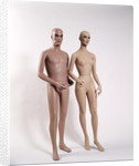 1970s Couple Nude Man Woman Full Figure Naked Bald Mannequin by Corbis