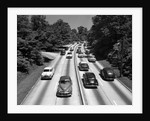 1950s Highway Traffic On Grand Central Parkway Looking East From 188th Street Overpass by Corbis