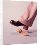 1970s Man About To Slip On Banana Peel by Corbis
