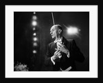 1960s 1970s Portrait Of Man In White Tie And Tails Conducting An Orchestra In Symphony Hall by Corbis