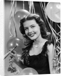 1940s 1950s Woman in Party Dress for New Year's by Corbis