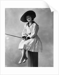 1910s 1920s Woman Wearing Dress With Sailor Style Collar by Corbis