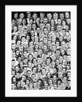 1950s Montage Of Faces Of All Ages by Corbis