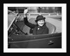 1930s Woman Driving Convertible Roadster Automobile Waving Gloved Hand by Corbis