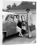 1950s Man Opening Automobile Door For Woman by Corbis