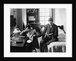 1890s Pair Of Male Students Studying In Dorm Room by Corbis
