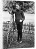 1880s 1890s Man Called Wheelman Next To High Wheel Ratchet Drive Bicycle by Corbis