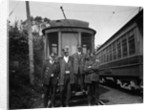 1900s Conductors Posing In Front Of Trolley Car by Corbis