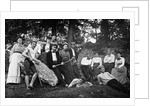 1890s 1900 Teenage Students In Woods Leaning Against Rocks by Corbis