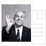 1950s Portrait Of Happy Man Businessman Slesman Making An Ok Hand Sign by Corbis
