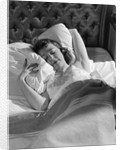 1940s 1950s Woman Asleep In Bed by Corbis