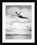 1930s Man Swan Diving From High Diving Board Outdoor by Corbis