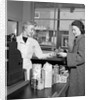 1950s Woman Grocery Store Checkout Female Cashier by Corbis