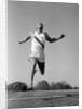 1960s Man Running Winning Sprinting Across The Finish Line Outdoor by Corbis