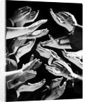 1950s Multiple Exposure Montage Hands Clapping by Corbis