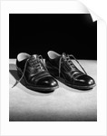 1930s Pair Of Black Lace Up Men's Shoes by Corbis