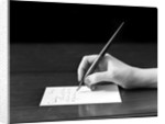 1920s 1930s 1940s Woman's Hand Writing Note With Steel Tip Ink Pen by Corbis