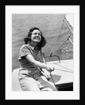 1940s Woman Sailor Sailing Boat Outdoor by Corbis