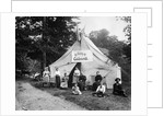 1890s 1900 Group Seated In Front Of Large Tent With Sign Reading Camp Golden-Rod by Corbis