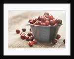Bowl of cranberries by Corbis