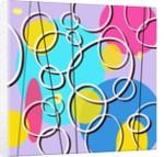 Retro Circles Pattern by Corbis