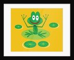 smiling frog on lily pad by Corbis