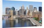 Lower Manhattan Skyline and Brooklyn Bridge by Corbis