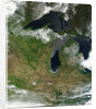 Low Earth Orbit View of the Great Lakes by Corbis