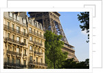 Eiffel Tower and Apartment Buildings by Corbis