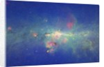 An Infrared View of the Inner Milky Way from the Spitzer Space Telescope by Corbis