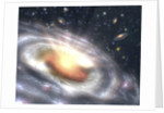 Artist's Conception of Quasar at the Center of Distant Galaxy by Corbis