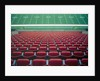 Empty seats in stadium by Corbis