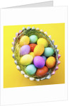 Basket with Easter eggs by Corbis