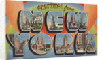 Greetings from New York Postcard by Corbis