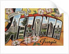 Greetings from Atlanta Georgia Postcard by Corbis
