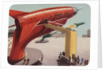 Biekens Pictorial Sticker with Giant Ray Gun by Corbis
