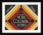 Hotel Colomba D'Oro Verona Italy Luggage Label by Corbis