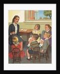 Calendar Illustration of Children Singing in Sunday School by Corbis