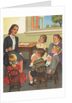 Calendar Illustration of Children Singing in Sunday School by Corbis