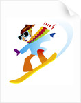 Freestyle Snowboarder by Corbis